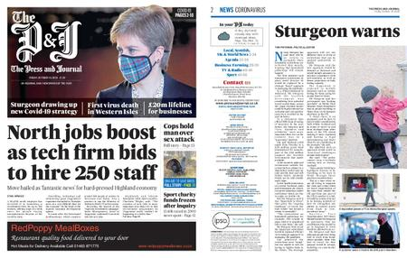 The Press and Journal Moray – October 16, 2020
