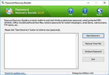 Password Recovery Bundle 2018 Enterprise / Professional 4.6 DC 14.04.2019