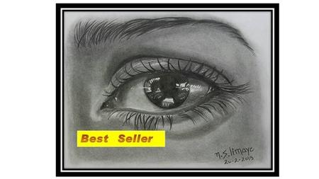 Draw Realistic Eye, Nose, Ear, Lip In Pencil Shading Medium