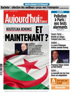 Aujourd'hui en France du Mardi 12 Mars 2019