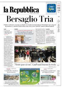 la Repubblica - 3 Aprile 2019