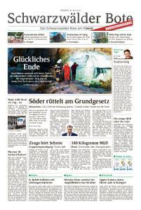 Schwarzwälder Bote St. Georgen, Triberg, Furtwangen - 30. Juli 2019