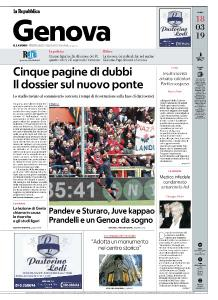 la Repubblica Genova - 18 Marzo 2019