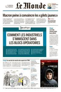 Le Monde du Jeudi 29 Novembre 2018