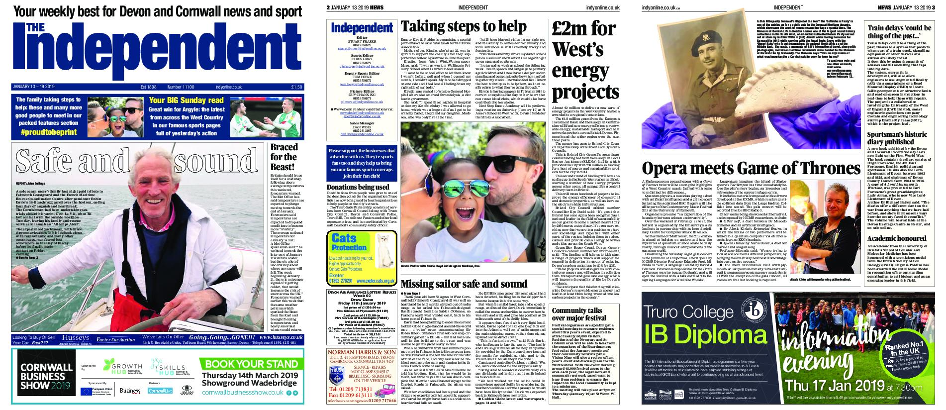 Sunday Independent Plymouth – January 13, 2019