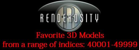 Renderosity 3D Collection. Part II. Rarities models + Bonus