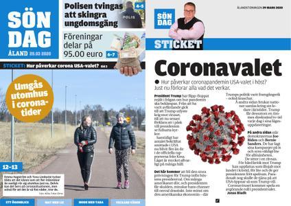 Ålandstidningen – 29 mars 2020
