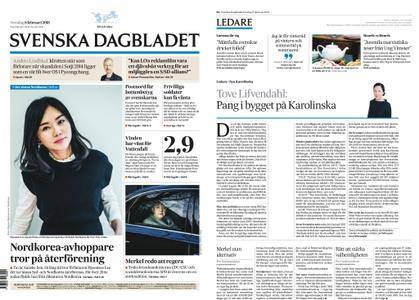 Svenska Dagbladet – 08 februari 2018