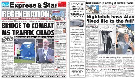 Express and Star Sandwell Edition – January 23, 2018