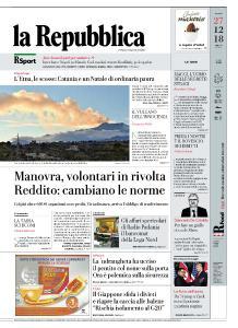 la Repubblica - 27 Dicembre 2018