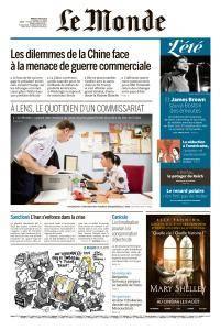 Le Monde du Mardi 7 Août 2018