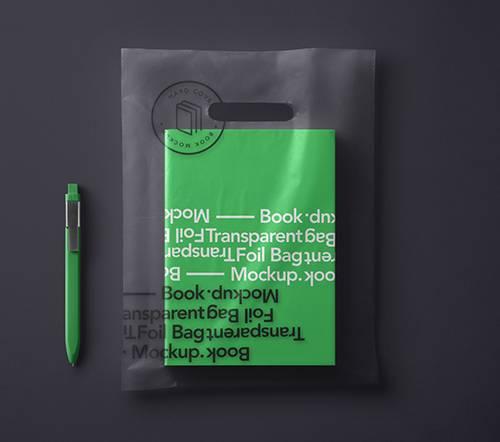 Book Transparent Bag Mockup