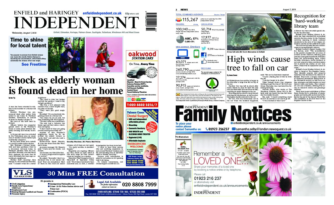 Enfield Independent – August 07, 2019