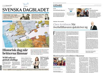 Svenska Dagbladet – 31 januari 2020