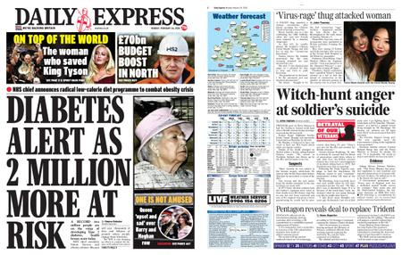 Daily Express – February 24, 2020