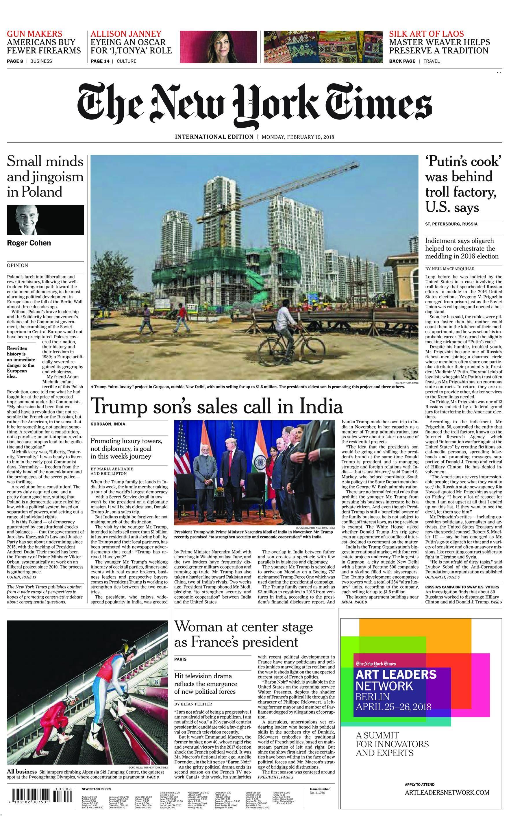 International New York Times - 19 February 2018