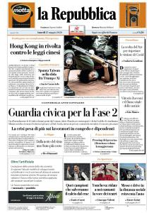 La Repubblica - 25 Maggio 2020