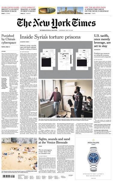 International New York Times - 16 May 2019