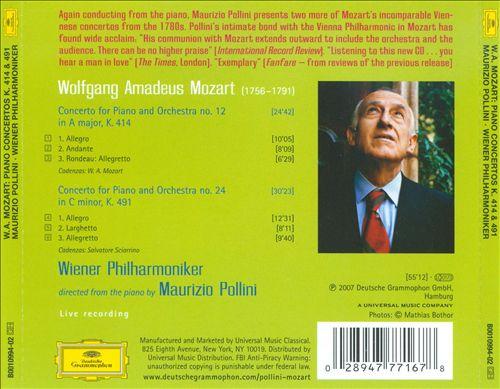 Maurizio Pollini - Mozart: Piano Concertos K.414 & K.491 (2007)