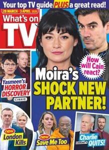 What's on TV - 28 March 2020