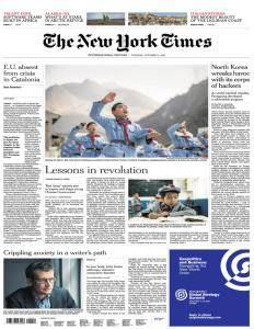 International New York Times - October 17, 2017