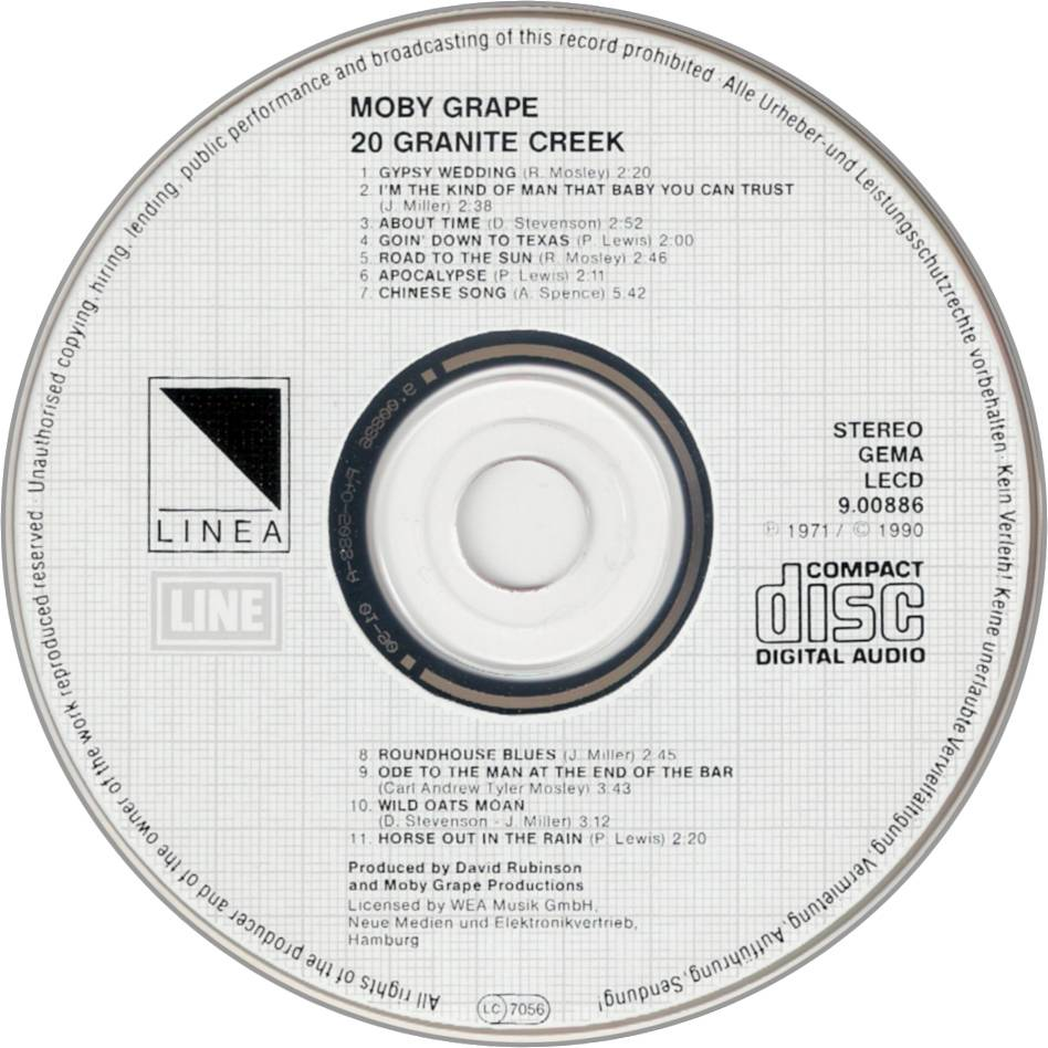 Moby Grape - 20 Granite Creek (1971) Reissue 1990
