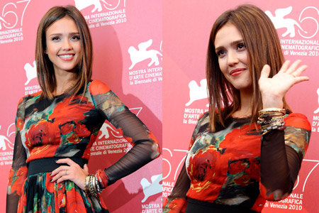 """Jessica Alba during a photocall for the movie """"Machete"""" at the 67th Venice Film Festival (HQ)"""