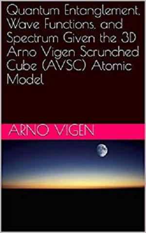 Quantum Entanglement, Wave Functions, and Spectrum Given the 3D Arno Vigen Scrunched Cube (AVSC) Atomic Model