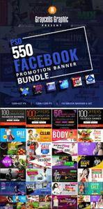 GraphicRiver - 550 Facebook Banner Bundle