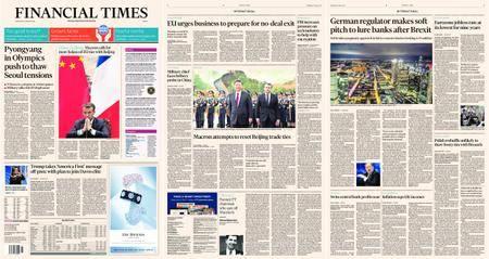 Financial Times Europe – 10 January 2018