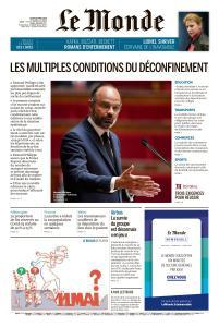 Le Monde du Jeudi 30 Avril 2020