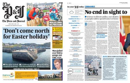 The Press and Journal Moray – April 10, 2020