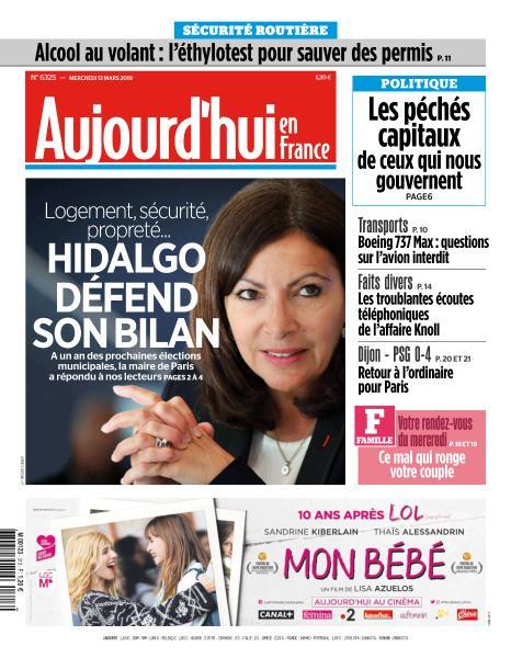 Aujourd'hui en France du Mercredi 13 Mars 2019