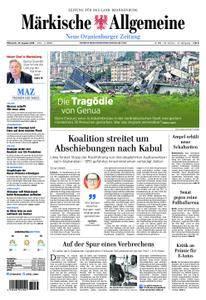 Neue Oranienburger Zeitung - 15. August 2018
