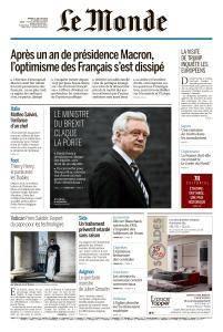 Le Monde du Mardi 10 Juillet 2018