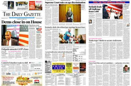 The Daily Gazette – November 07, 2018