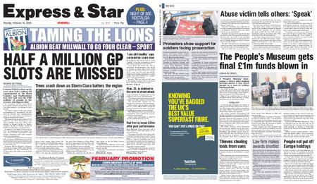 Express and Star Sandwell Edition – February 10, 2020