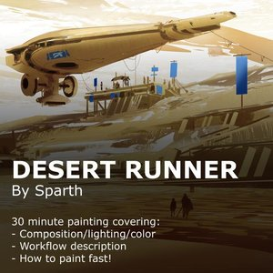 30 minute painting - Desert runner SPARTH