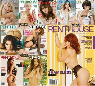 Penthouse USA - Full Year 2017 Issues Collection