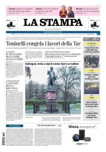 La Stampa Torino Provincia e Canavese - 5 Dicembre 2018
