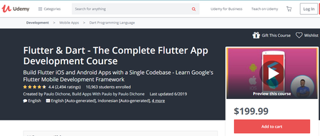 Udemy - Flutter & Dart - The Complete Flutter App Development Course (2019)