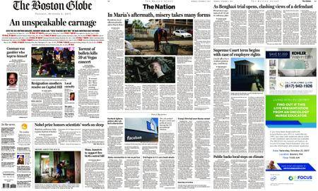 The Boston Globe – October 03, 2017