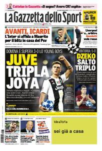 La Gazzetta dello Sport – 03 ottobre 2018