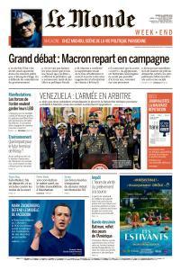 Le Monde du Samedi 26 Janvier 2019