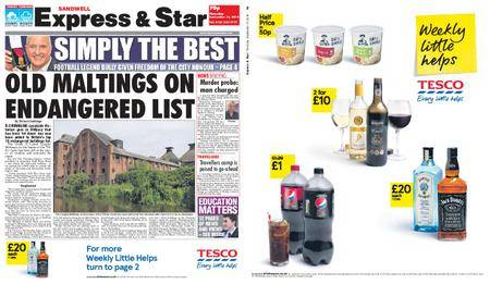 Express and Star Sandwell Edition – September 13, 2018