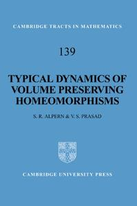 Typical Dynamics of Volume Preserving Homeomorphisms (Repost)