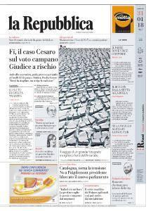 la Repubblica - 31 Gennaio 2018