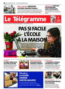 Le Télégramme Concarneau – 20 mars 2020