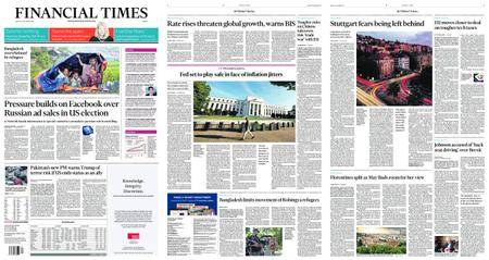 Financial Times Europe – September 18, 2017