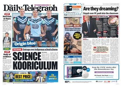 The Daily Telegraph (Sydney) – November 02, 2018